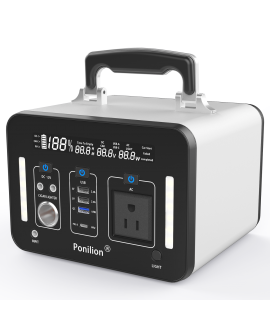 PoniLion® A500-S Portable Power Station With 135200mAh / 500Wh / AC 500W Pure Sine Wave