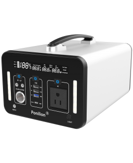 PoniLion® A1000-S Portable Power Station With 270000mAh / 1000Wh / AC 1000W Pure Sine Wave